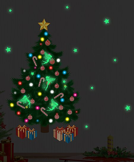 2e570d757c Walplus Christmas Tree & Glow In The Dark Magic Fairies Wall Decal ...