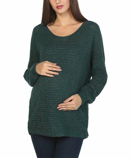 b82918964ea71 Rio Maternity Green Maternity Sweater | Zulily