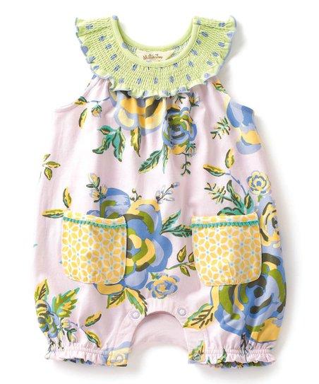 09945b66a6b4 Matilda Jane Clothing Light Green   Yellow Blowing Bubbles Romper ...