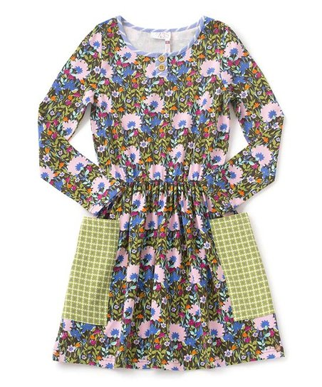 9aea0436e36 Matilda Jane Clothing Green   Lilac Grow Together Dress - Girls