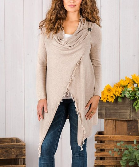Matilda Jane Clothing Beige Come On Over Cardigan Women Zulily