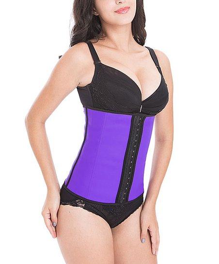 10957cec14 love this product Purple   Black Waist Trainer   Shaper Corset - Women    Plus