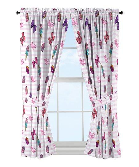 Jojo Siwa Sweet Life Pink White Curtain Set Bedroom 2 Panels Jojo Siwa