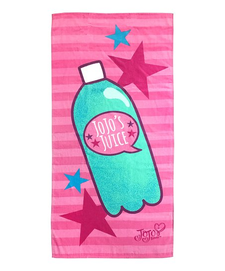37aabd195b Jay Franco and Sons JoJo Siwa Pink Stripe JoJos Juice Beach Towel ...