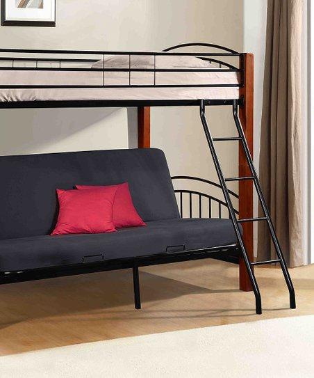 Donco Kids Black Metal Twin Futon Bunk Bed  8ef3f545ef