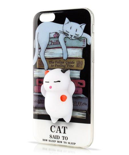 InTech Black 3-D Sleep Squishy Cat Case for iPhone  0aab0b952e