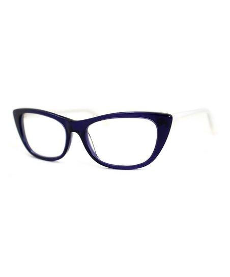 4732a578f4 A.J. Morgan Dark Blue   Pearl White Coquette Optical Readers