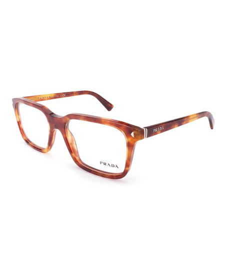 d069095fdf Prada Light Brown Tortoise Square Eyeglass Frames