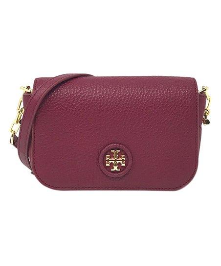 a59e5e92b4e love this product Red Agate Whipstitch Leather Mini Crossbody Bag