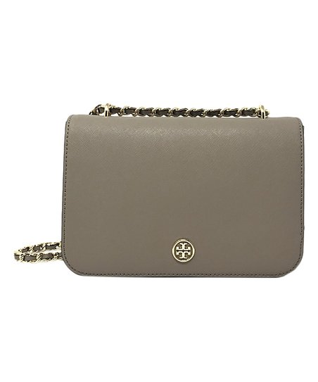 24064229a479 Tory Burch French Gray Robinson Adjustable Leather Crossbody Bag ...