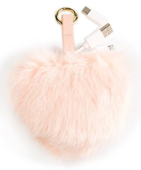 love this product Pink Fuzzy Heart Key Chain Charger 9310803108