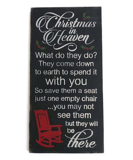 Christmas In Heaven What Do They Do.Sara S Signs Christmas In Heaven Wall Sign