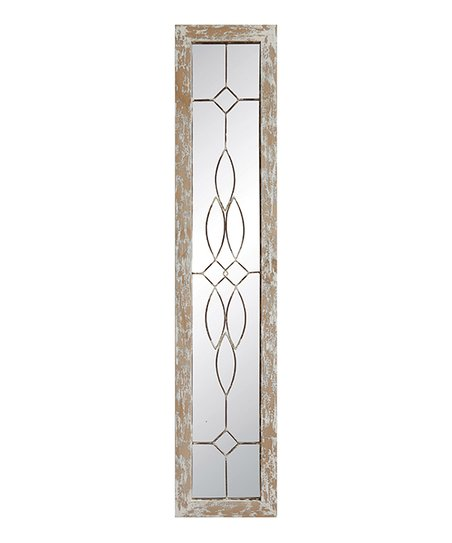 White Distressed Wood Framed Mirror