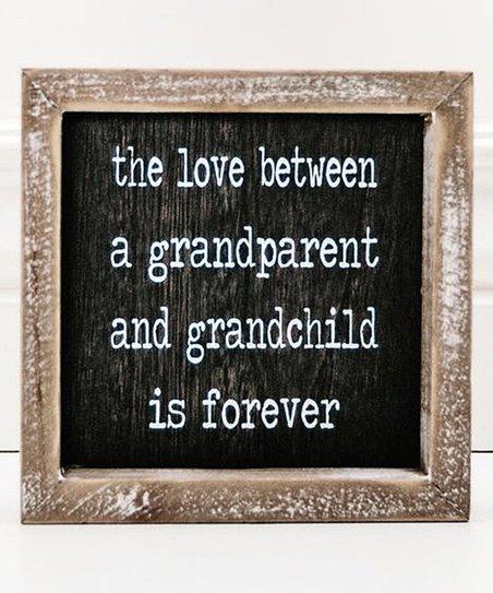 Adams Co Grandparent And Grandchild Black White Framed Wooden Sign