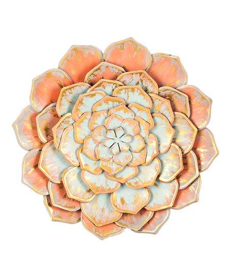 Cape Craftsmen Peach Layered Flower Metal Wall Dcor Zulily