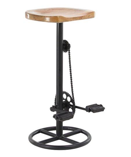 Remarkable Uma Bike Pedal Metal Wood Stool Zulily Evergreenethics Interior Chair Design Evergreenethicsorg