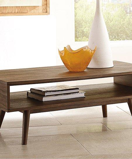 Signature Design By Ashley Furniture Dark Brown Kisper Rectangular Coffee Table