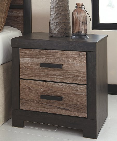 love this product Warm Gray   Charcoal Harlinton Two-Drawer Media Nightstand 4a8dda944