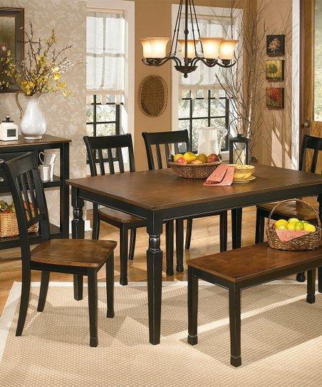 Black Brown Owingsville Large Dining Room Bench