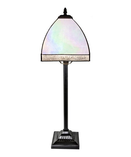 River Of Goods Opalescent Bent Panel Stained Glass Table Lamp Zulily