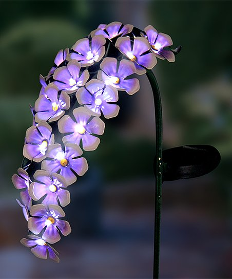 love this product Purple Hanging Flowers Solar Garden Stake