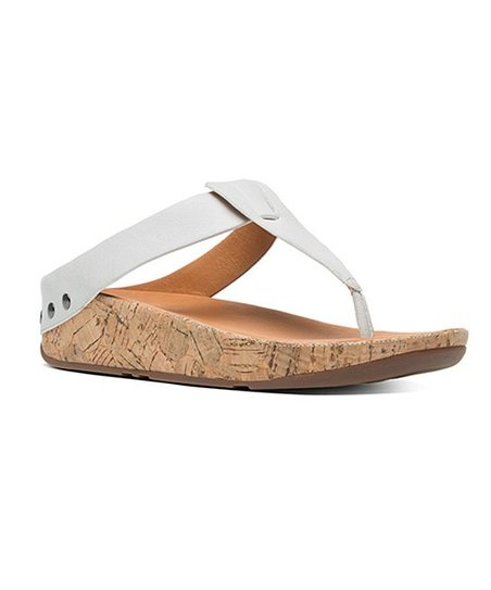 9dac546f2 love this product Urban White Ibiza Cork Leather Flip-Flop - Women