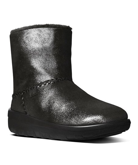 d280e31a624b4c FitFlop Black Mukluk Shorty II Shimmer Suede Boot - Women