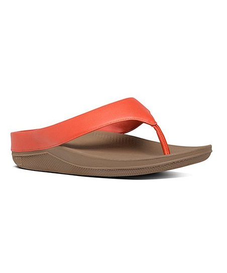 87b9aa92697d FitFlop Flame Ringer Leather Toe-Post Sandal - Women