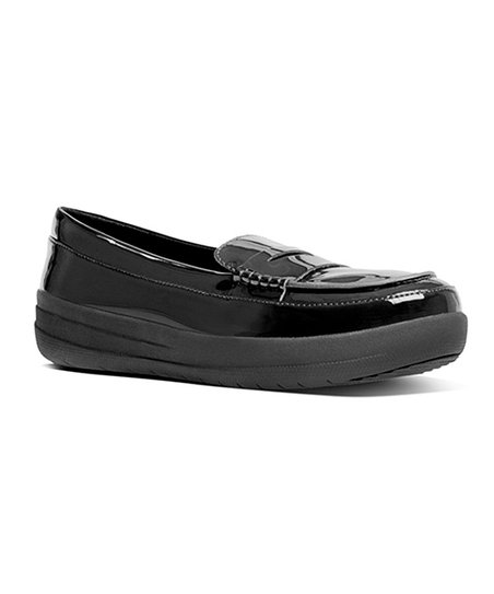 7a0054116 FitFlop Black F-Sporty Penny Patent Leather Loafer - Women