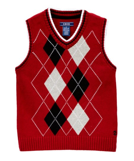 1f939ba62 IZOD Izod Red   White Argyle Sweater Vest - Boys