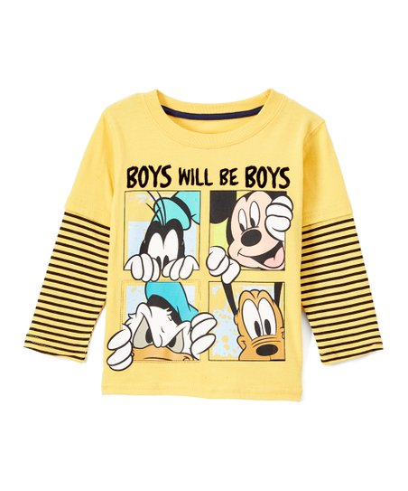 99792d93ba love this product Yellow Mickey Mouse Clubhouse 'Boys Will Be Boys' Tee -  Toddler