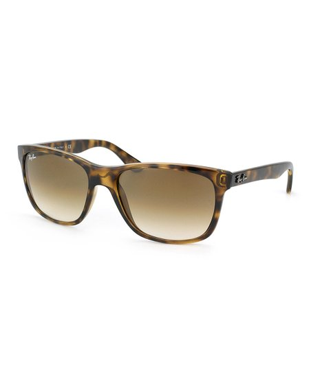 4140ed553d77 love this product Tortoise & Brown Gradient Square Sunglasses-Women