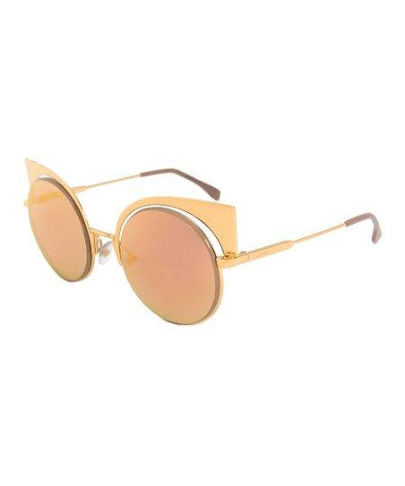 e913d077327 love this product Rose Gold Mirrored Eyeshine Cat-Eye Sunglasses