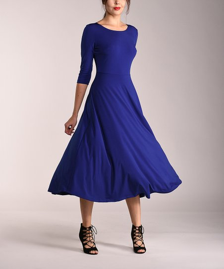 4350f693476 love this product Royal Blue Midi Dress - Women