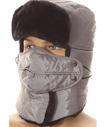 love this product Gray Neck-Cover Trapper Hat 09cb3cd1b