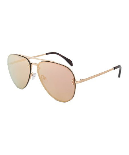 ee098db090 Celine Gold Mirrored Pilot Aviator Sunglasses