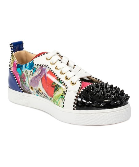 reputable site 59f6f 25535 Christian Louboutin Black Louis Junior Spike-Accent Flat - Women