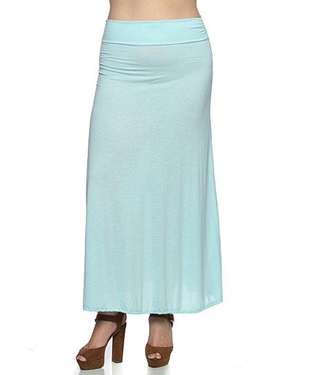 c3335c1ba Hot Ginger Aqua Maxi Skirt - Plus   Zulily