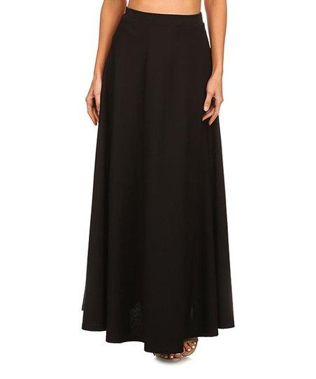 Black White Stripe Peplum Maxi Skirt Plus