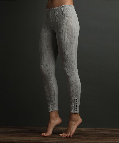 9c7301a6eb5c7 Lemon Legwear Oxford Cable-Knit Leggings - Women | Zulily