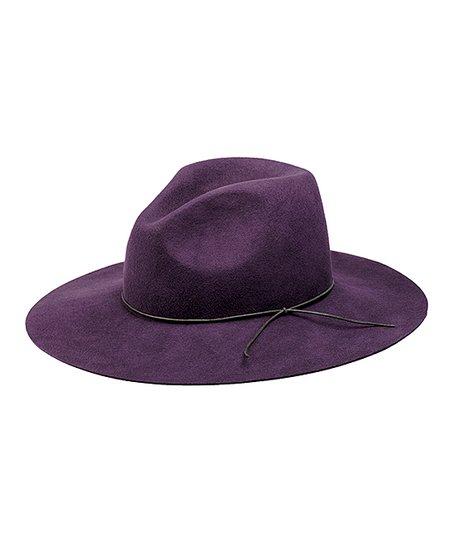 5ca07e76 Peter Grimm Hats Purple Tie-Accent Wool Floppy Hat