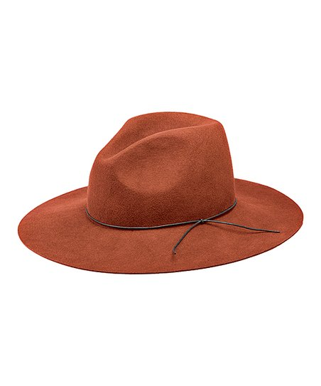 e66b8f5326e68 Peter Grimm Hats Rust Tie-Accent Wool Floppy Hat