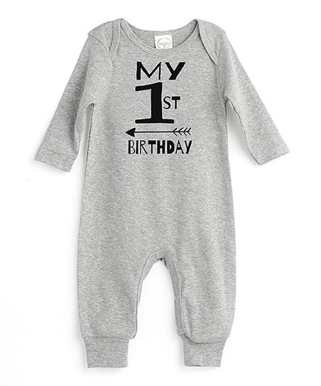 97a0c6ef51f love this product Heather Gray  My 1st Birthday  Playsuit - Newborn   Infant