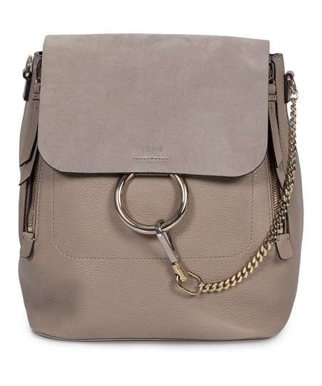 Chloé Motty Gray Faye Leather Convertible Backpack  9c33b86cd