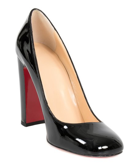 new product 40966 934a9 Christian Louboutin Black Cadrilla Patent Leather Pumps