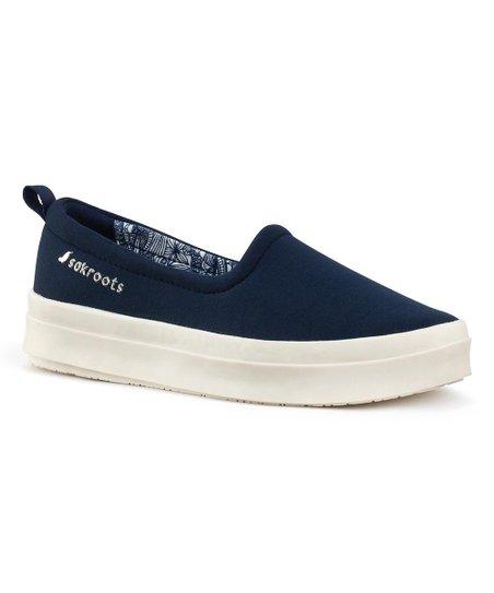 Navy Saz Slip-On Sneaker