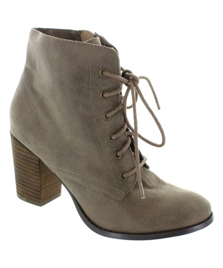 love this product Taupe Time Out Lace-Up Ankle Boot - Women 14f285c91c