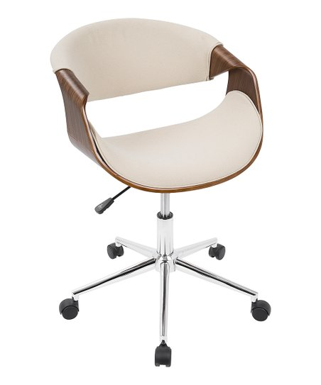 Pleasant Cream Walnut Curvo Office Chair Pabps2019 Chair Design Images Pabps2019Com