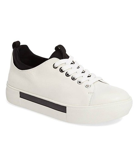 c3f6a44ee10bb J Slides White Ariel Leather Sneaker