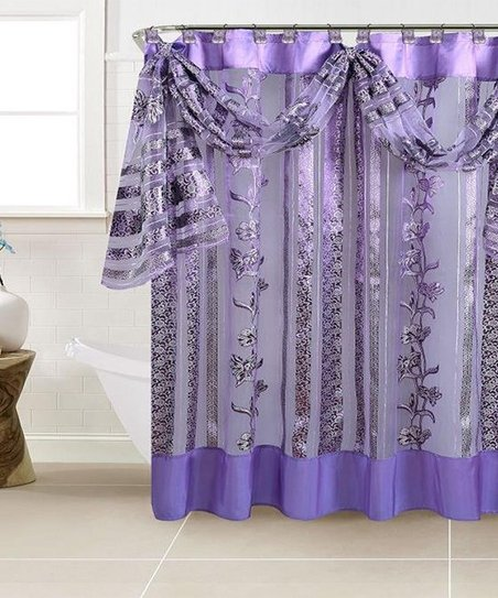 Purple Paris Shower Curtain